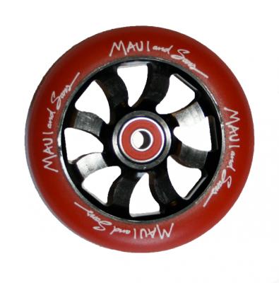 Maui Scooter Hjul Rød/Sort 110 mm.