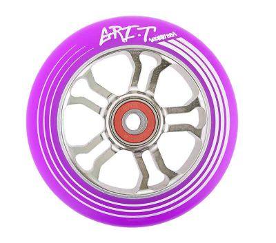 GRIT Ultra Light Løbehjuls Hjul 100mm Titanium/Lilla PU