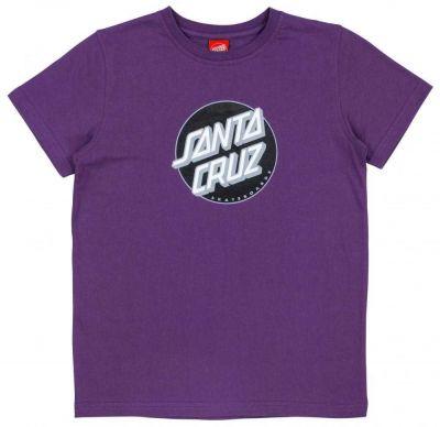 Santa Cruz Youth Classic Dot Tee Purple