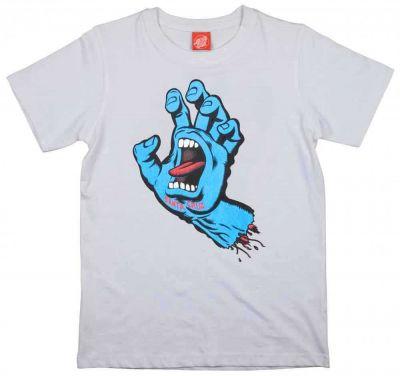 Santa Cruz Kortærmet T-shirt 'Screaming Hand' Hvid