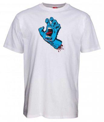 Santa Cruz Kortærmet T-shirt 'Screaming Hand' White