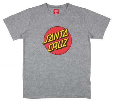 Santa Cruz Youth T-shirt Classic Dot Grå