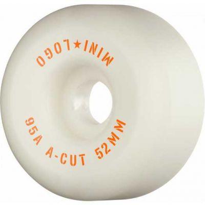 "Mini Logo Skateboard Hjul A-cut ""2"" 52mm 95A White 4-pak"
