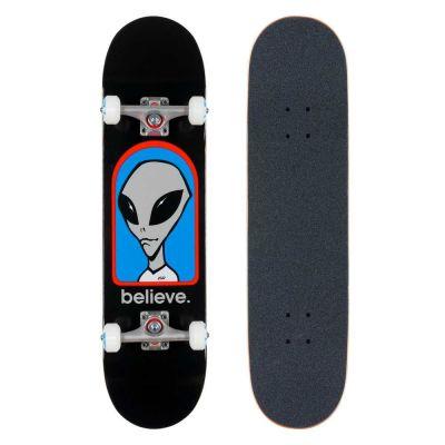 Alien Workshop Skateboard Believe Black 7.75