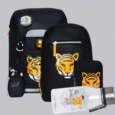 Beckmann Skoletaske 22L Tiger Team, sæt af 6 dele