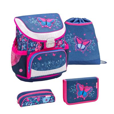 Belmil Skoletaskesæt Butterfly Jeans