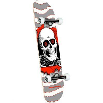 "Powell Peralta Ripper One Off • Silver Skateboard • 8.0"""