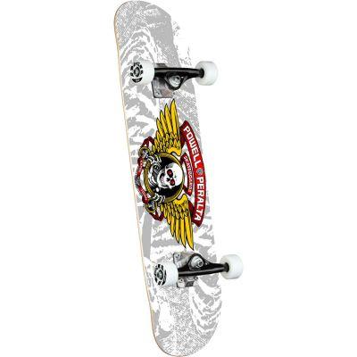 "Powell Peralta Winged Ripper • Silver Skateboard • 8.0"""