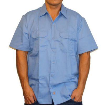 Dickies WS576 Kortærmet Skjorte Slim Fit Lyseblå