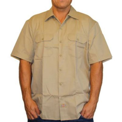 Dickies 1574 Work Shirt Kortærmet Skjorte Khaki