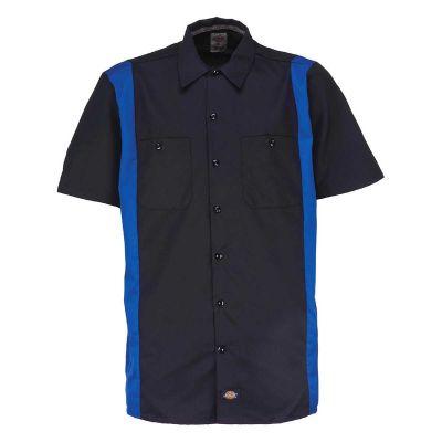 Dickies Two Tone Kortærmet Skjorte Sort/Royal Blue