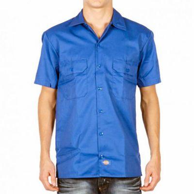 Dickies WS576 Kortærmet Skjorte Slim Fit Royal Blue