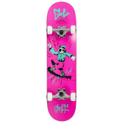 Enuff Skully Pink Skateboard 7.2 x 29.5