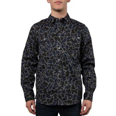 Dickies Newkirk Langærmet Skjorte Charcoal Grey