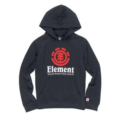 Element Hoody Vertical Flint Black til børn