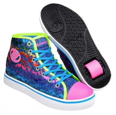 Heelys Veloz Rullesko Denim/Glitter/Rainbow