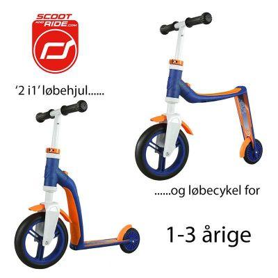 Scoot & Ride Highwayfreak - Løbehjul og løbecykel i ét Blå/Orange