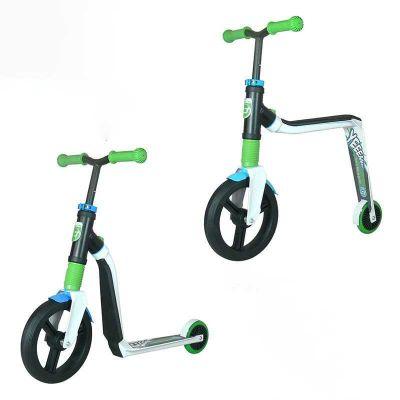 Scoot & Ride Highwayfreak - Løbehjul og løbecykel i ét Hvid/Grøn/Blå