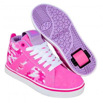 Heelys Mid 20 Rullesko Hot Pink Hvid Camo