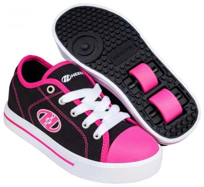 Heelys Classic X2 Rullesko Sort/Hvid/Hot Pink