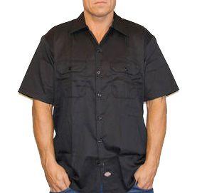 Dickies 1574 Work Shirt Kortærmet Skjorte Sort