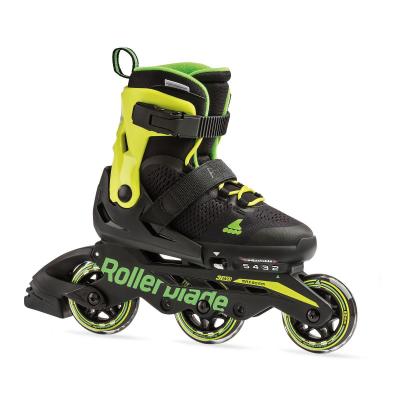 Rollerblade Microblade 3WD Inline Rulleskøjte Sort/Lime Grøn