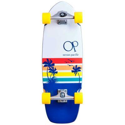 Ocean Pacific Surfskate Skateboard Sunset Hvid/Navy