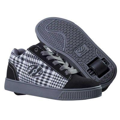 Heelys Straight Up Rullesko Sort/Plaid/Charcoal/Hvid