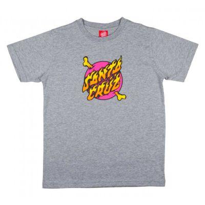 Santa Cruz Youth Crossbone 'Dot T-Shirt' Grå Melange