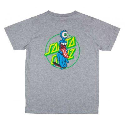 Santa Cruz Youth Grip 'Dot T-Shirt' Grå Melange