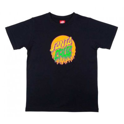 Santa Cruz Youth Rad Dot T-Shirt Sort