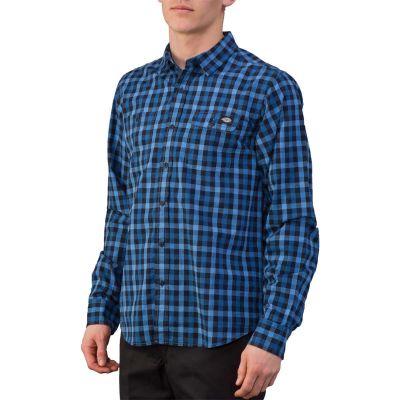Dickies West Hollywood Langærmet Skjorte Blå