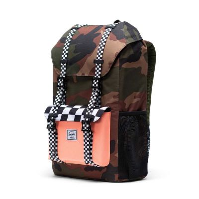 Herschel Little America Backpack Youth Woodland Camo/Black White Check
