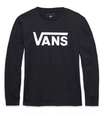 Vans Børn Classic Long Sleeve T-shirt Sort/Hvid