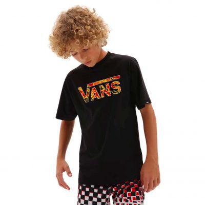 Vans Classic Logo T-shirt Børn Sort/Flamme