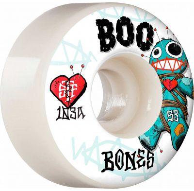 Bones Wheels PRO STF Skateboard Hjul Boo Voodoo 53mm V4 Wide 103A 4-pak