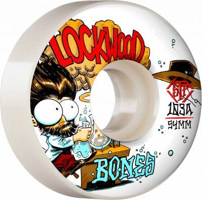 Bones Wheels PRO STF Skateboard Hjul Lockwood Experi-Mental 54mm V3 Slims 103A 4-pak