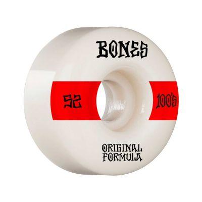 Bones Wheels OG Formula Skateboard Hjul 100 52 Mm V4 Wide 4pk White