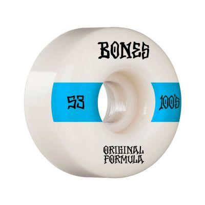 Bones Wheels OG Formula Skateboard Hjul 100 53 Mm V4 Wide 4pk White