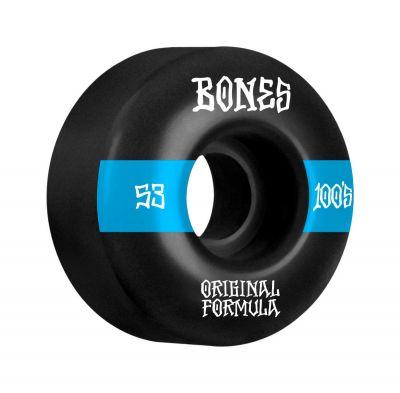 Bones Wheels OG Formula Skateboard Hjul 100 53mm V4 Wide 4pk Black
