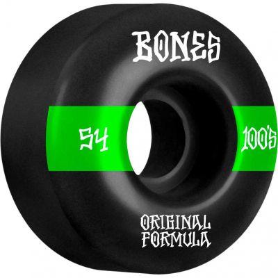 Bones Wheels OG Formula Skateboard Hjul 100 54 Mm V4 Sidecut 4pk Black