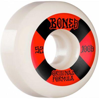 Bones Wheels OG Formula Skateboard Hjul 100 52 Mm V5 Sidecut 4pk White