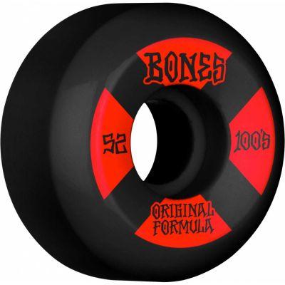 Bones Wheels OG Formula Skateboard Hjul 100 52mm V5 Sidecut 4pk Black