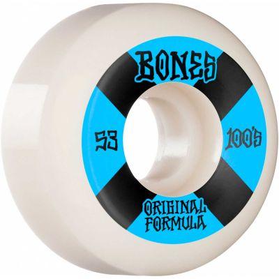Bones Wheels OG Formula Skateboard Hjul 100 52 Mm V5 Sidecut 4pk Blue