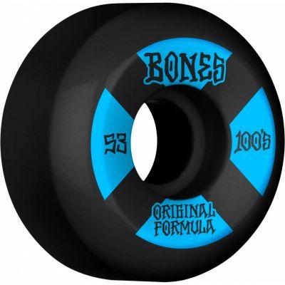 Bones Wheels OG Formula Skateboard Hjul 100 53mm V5 Sidecut 4pk Black