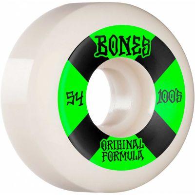 Bones Wheels OG Formula Skateboard Hjul 100 54 Mm V5 Sidecut 4pk White