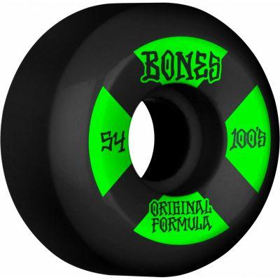 Bones Wheels OG Formula Skateboard Hjul 100 54mm V5 Sidecut 4pk Black
